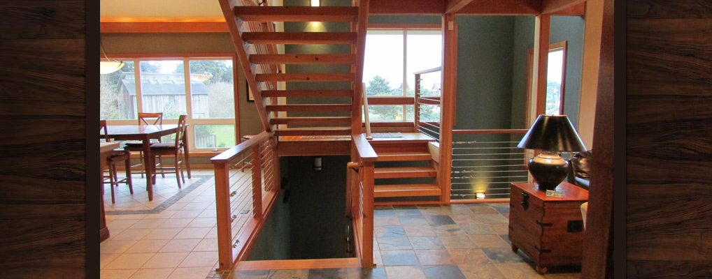 Bandon-Escape-Beach-House-Rental-stairs